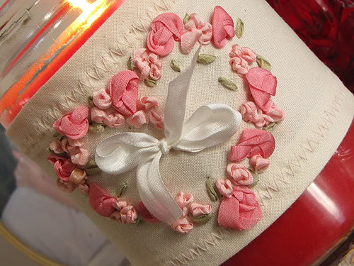 Romantic Silk ribbon embroidery Roses9-1