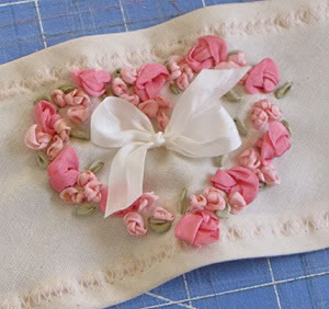 Romantic Silk ribbon embroidery Roses9