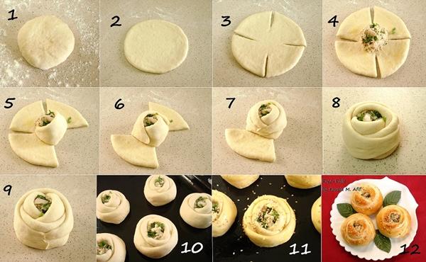 Rose roll Wonderful DIY Delicious Rose Rolls