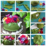 Wonderful DIY Knitted Spring Explosion Tea Cozy