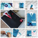 Wonderful DIY Suit and Tie Card for Father's Day