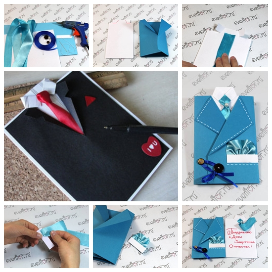 Suit and Tie Card for Fathers Day F Wonderful DIY Suit and Tie Card for Fathers Day