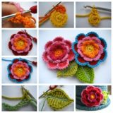 Triple Layer Crochet Flower – How to Make it Yourself