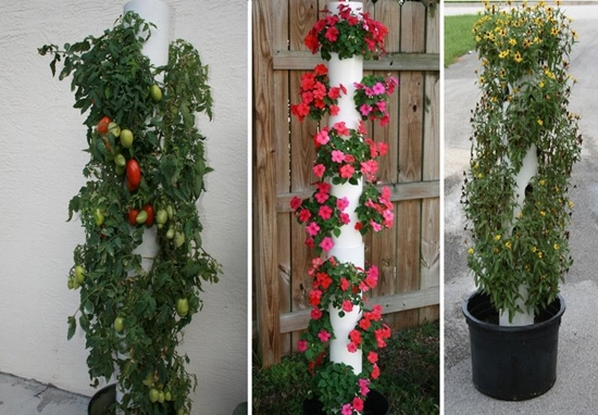Wonderful DIY Vertical PVC Planter on homemade bell tower, homemade flower tower, homemade box tower, homemade plant tower, homemade garden tower, homemade light tower, homemade fruit tower, homemade water tower,