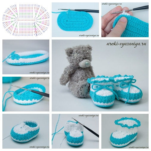 baby booties F Wonderful DIY Crochet Baby Booties