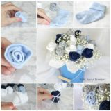 Beautiful Baby Sock Rose Bouquets to Make For Mom's Days