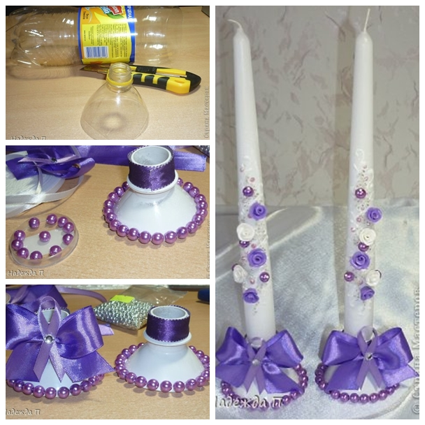 Wonderful DIY Candlestick From Plastic Bottles Interesting Plastic Bottle Decorations