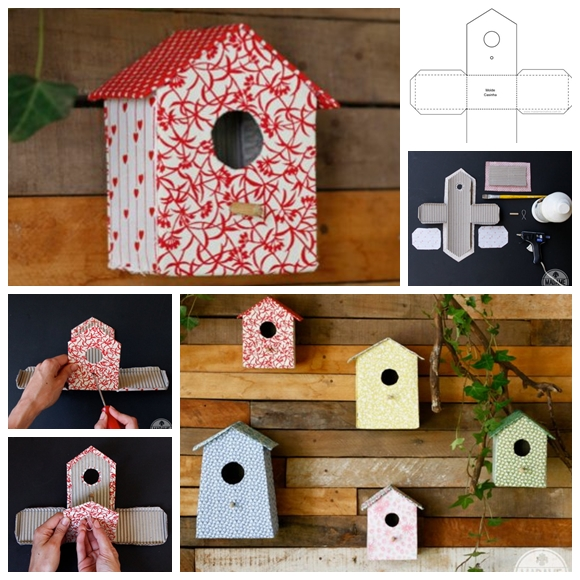 Cardboard birdhouse template l art & craft diy i कैसे.