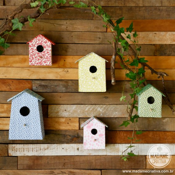 carboard bird house6
