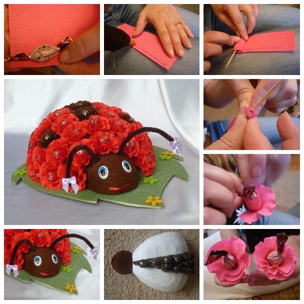 chocolate bug F1 Wonderful DIY Chocolate Floral Ladybug Bouquet