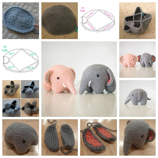 crochet adorable elephant F Wonderful DIY Crochet Adorable Elephant