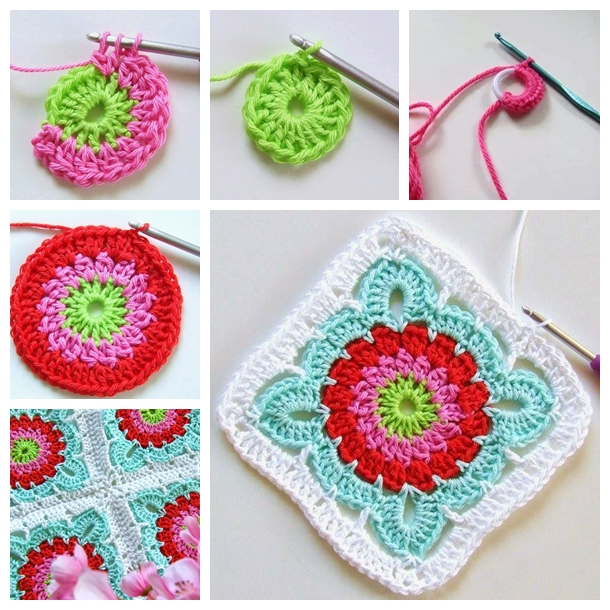 crochet flower blanket F Perfectly Pretty DIY Crochet Flower Blanket