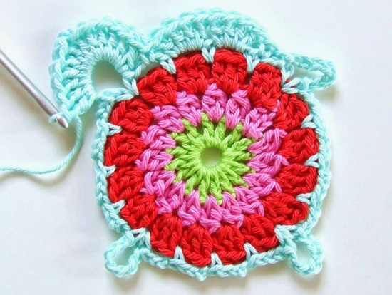 crochet flower blanket7
