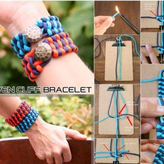 Wonderful DIY Woven Cuff Bracelet