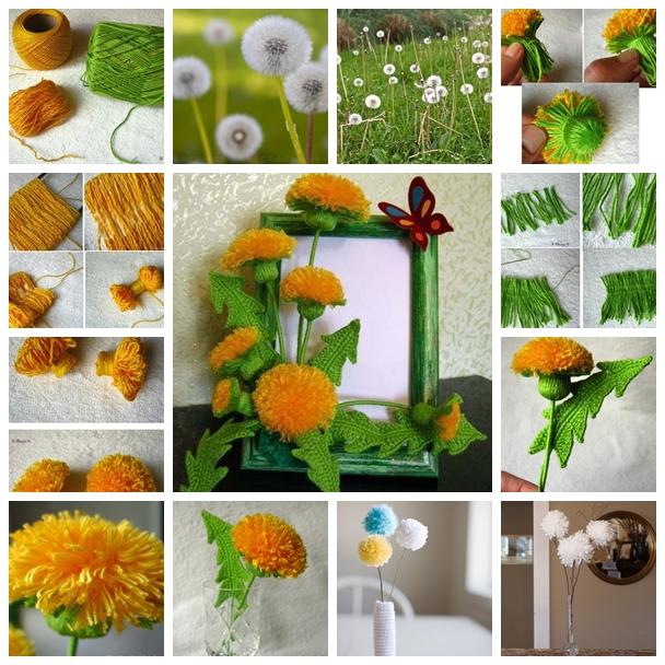 dandelion F Wonderful DIY Pretty Yarn Dandelions