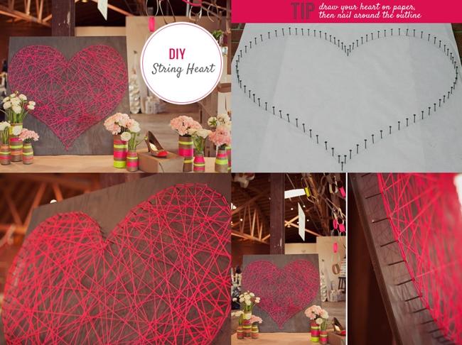 diy string heart F Wonderful DIY Romantic String Heart