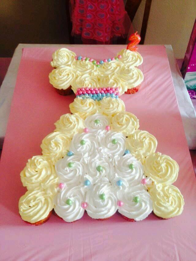Princess Belle Cupcake Cake