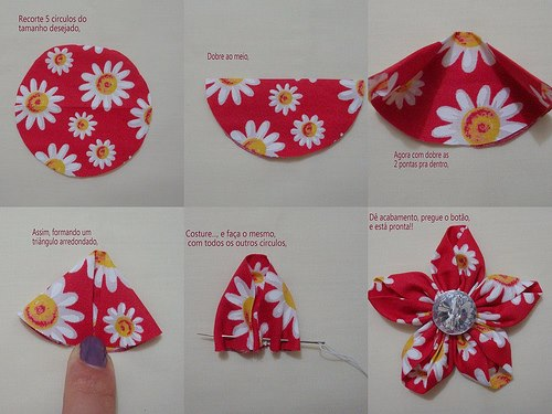 fabric flower 5 Wonderful DIY Beautiful Fabric Flowers In 6 Ways