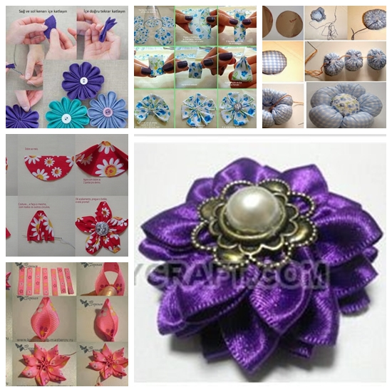 fabric flower F Wonderful DIY Beautiful Fabric Flowers In 6 Ways