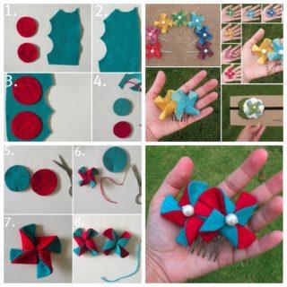 Wonderful DIY Cute Felt  Pinwheels