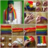 Wonderful DIY Finger Knitting scarf