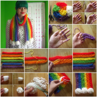 Wonderful DIY Finger Knitting scarf