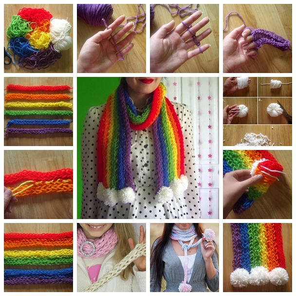finger knitting F Wonderful DIY Finger Knitting scarf