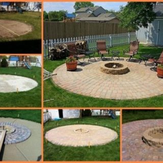Wonderful DIY A Fire Pit Patio