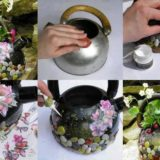 Wonderful DIY Flower Pot From An Old Kettle