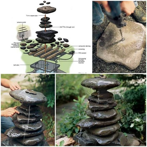 garden fountain Wonderful DIY Water Garden Fountain
