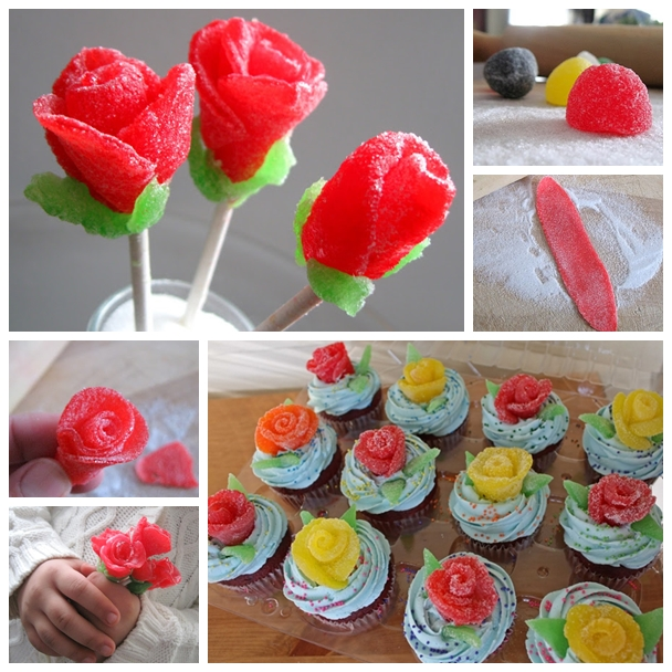 gumdrop rose lollipop F1 Wonderful DIY Sweet Gumdrop Rose