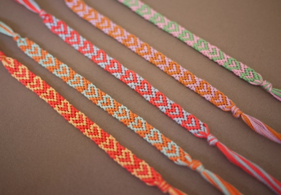 diy friendship the diamond stripe embroidery bracelet bracelets floss