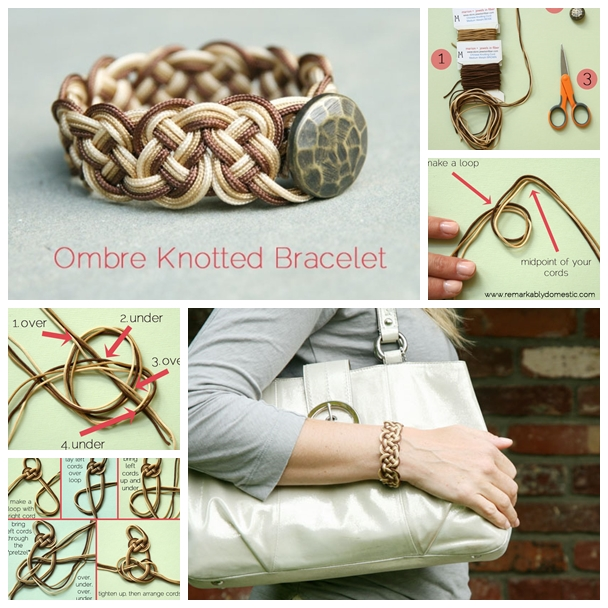 knotted bracelet F Wonderful DIY Cool Knotted Bracelet