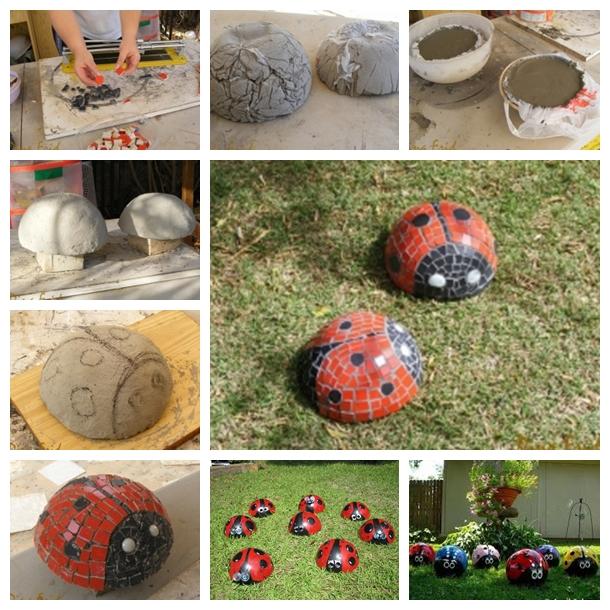 mosic ladybug F Wonderful DIY Garden Mosaic Ladybug