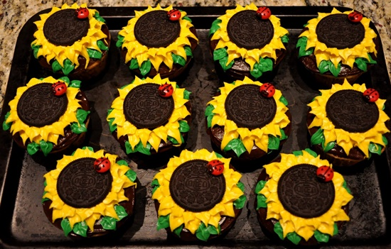 oreo sunflower cupcakes 9-3