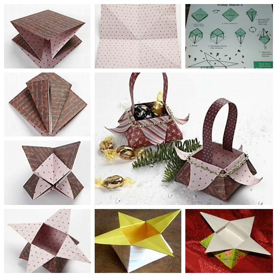 Origami Star Box (traditional model) - YouTube | 550x550