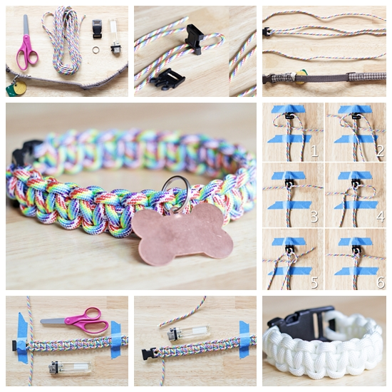 paracord collar Fjpg Wonderful DIY Rainbow Paracord Dog Collar