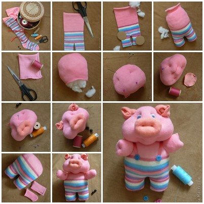 piglet i Wonderful DIY Cute Piggy From Sock