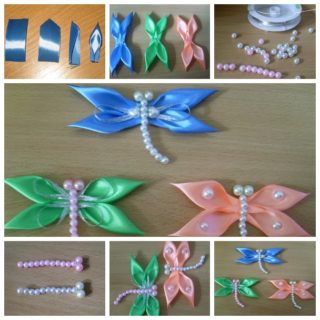 Wonderful DIY Lovely Ribbon Dragonfly