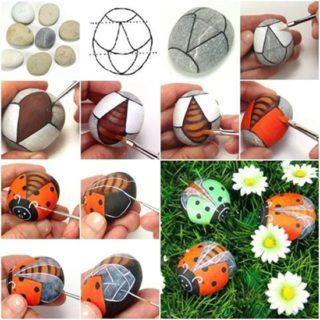 Wonderful DIY Adorable Rock Ladybug