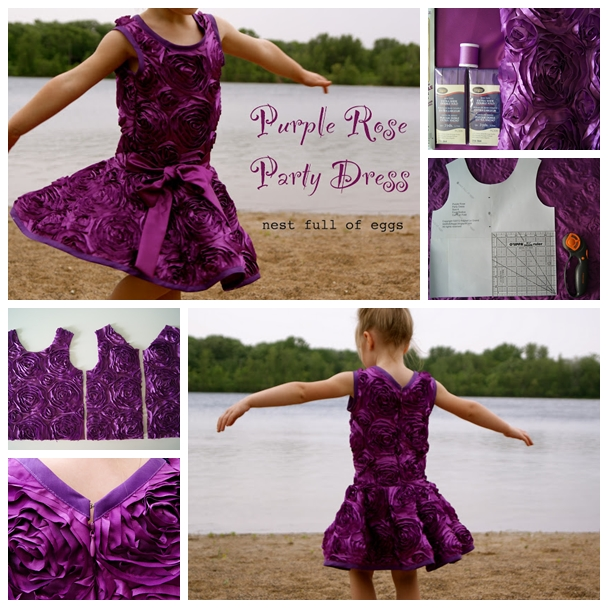 rose party dress F