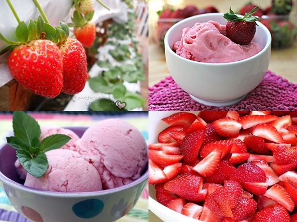 strawberry ice cream F