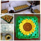 Wonderful DIY Crochet Sunflower Rug