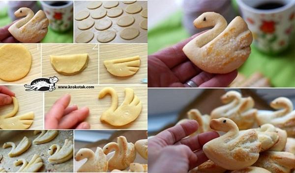 swan cookies F Wonderful DIY Swan Cookies