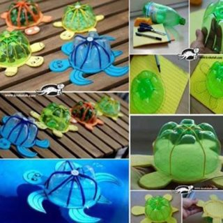 Wonderful DIY Floating Turtle Family From Bottle/Cap