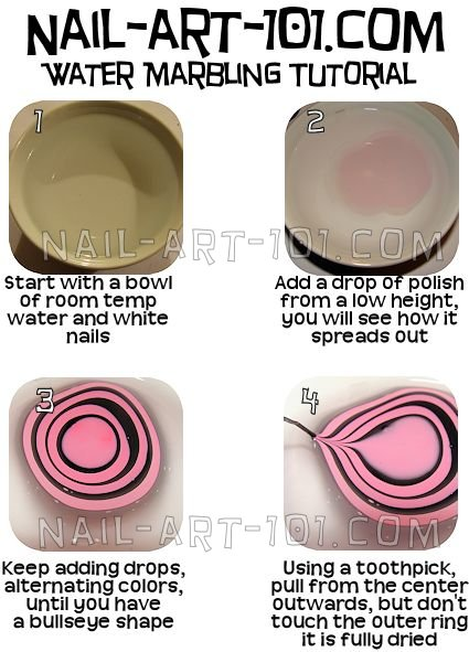 Diy Water Marble Nail Art With Salon Quality Results