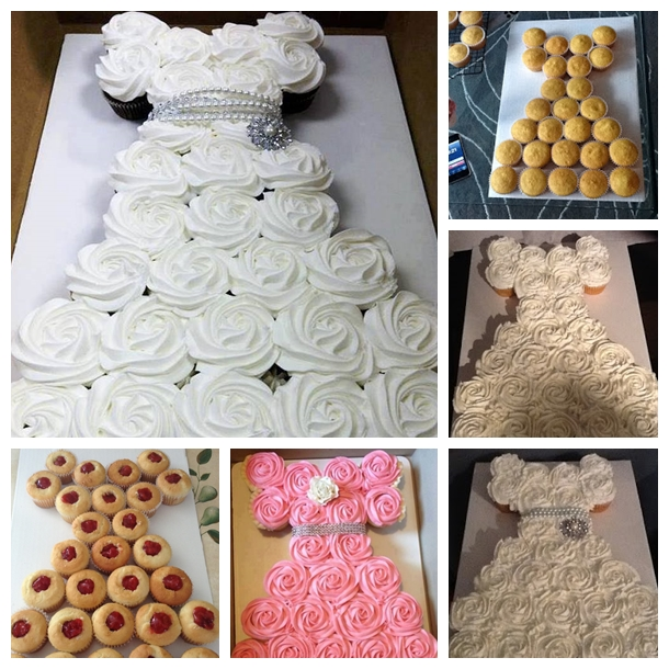 wedding cupcake F Wonderful Wedding Dress Cupcakes with Free Tutorial
