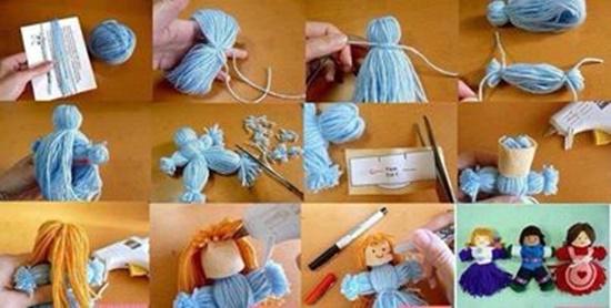 yarn doll 0 Wonderful DIY Cute Yarn Doll