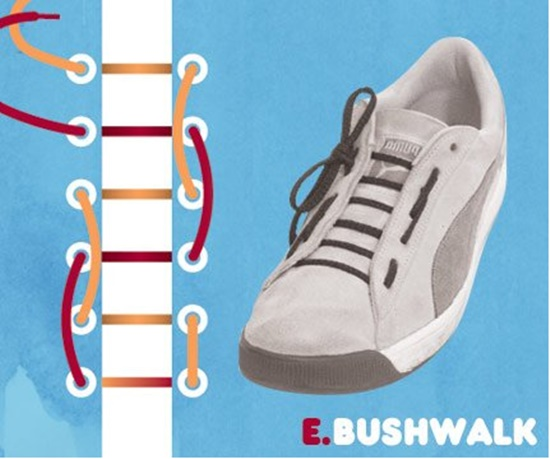 15 ways to tie your shoes