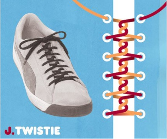 15 ways to tie your shoes6